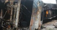12 Congolese arrested for burning a Zambian driver alive