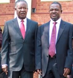 President Sata with Kabimba