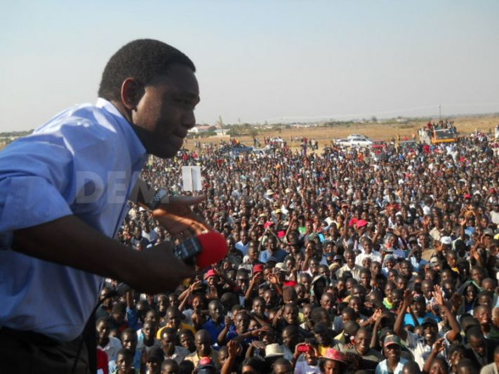 UPND leader Hichilema during a campaign rally in the run upto 2011 elections. Photo: Demotix UK