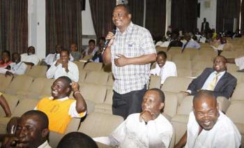 Gweembe MP Brian Ntundu speaking