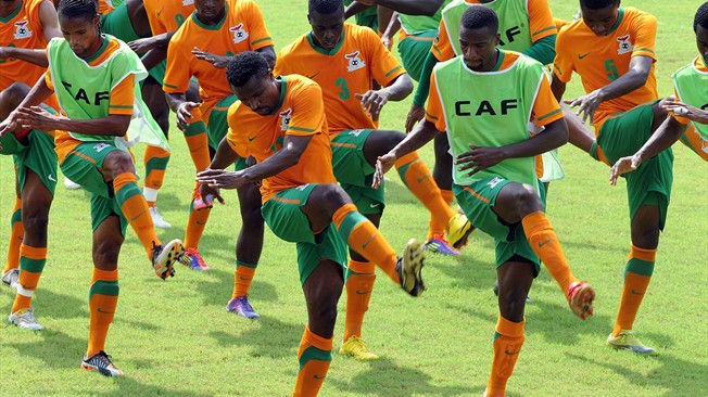 Chipolopolo Boys in training
