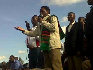 HH addressing a rally in Kabwata