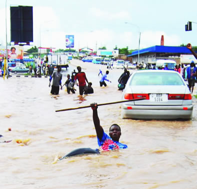 Lusaka City after a heavy downpour