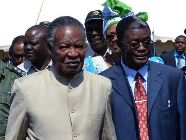 President Sata with Sikwela recently in Lusaka