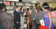 Zim Woman stripes in front of US Envoy
