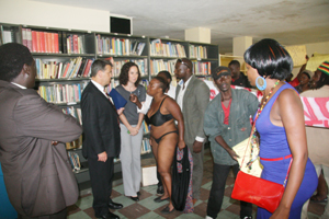 Mr Wharton had to make a hasty retreat after Ms Sheila Mutsenhu confronted him in her undergarments