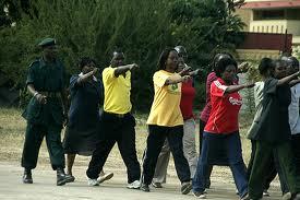 Zambian Civil Servants during a match past
