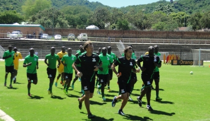 Chipolopolo during training