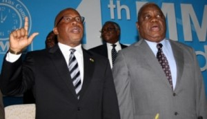 File: Banda (r) with Nevers Mumba when Banda handed over