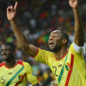 Seydou Keita Mali's striker was the player of the match