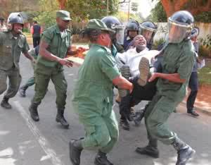 brutal police