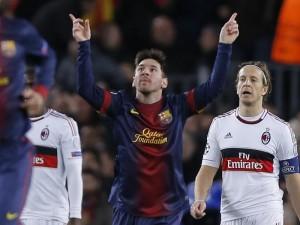 FILE: Lionel Messi celebrating