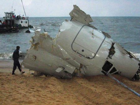Gabon plane wreckage