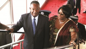 President Sata with his wife Dr. Kaseba