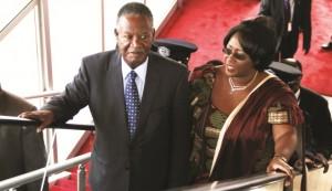 President Sata with his wife Dr. Kaseba