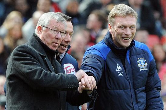 Ferguson (l) with Moyes