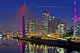 Octavio Frias Bridge in Brooklin, Sao Paulo, Brazil