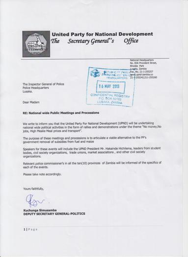 Letter UPND