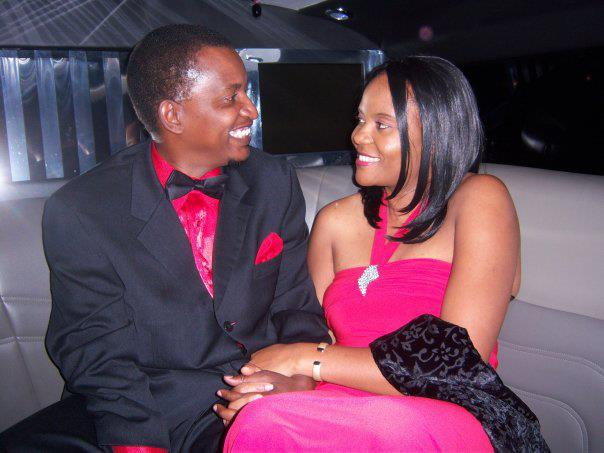 Leader of opposition NGP Humphrey Silulapwa with his wife Kubi