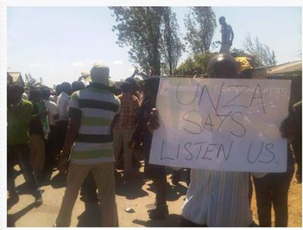 UNZA students protest 1