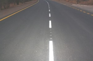 The Victoria Falls Road has been worked on