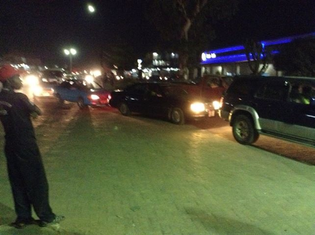 Motorists queue up for fuel in Chingola.