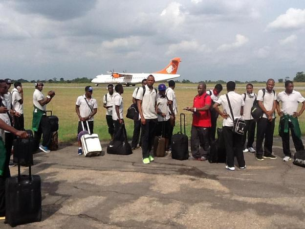 The Chipolopolo Boys going for training at the match venue - Baba Yara Stadium. Pictures Courtesy of FAZ