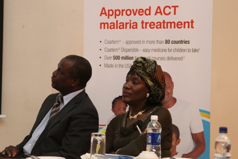 Dr Christine Manyando, Tropical Disease Research Center, Ndola, Zambia during the launch in Lusaka