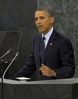 US President Barack Obama addresses the 68th United Nations General Assembly at the UN on September  …