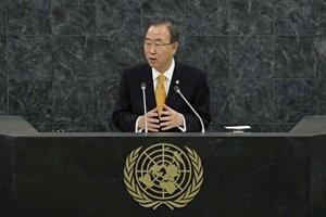 "."" Secretary General of the United Nations Ban Ki-moon speaks at the 68th United Nations General Assemb …"