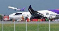 14 hurt as plane skids off runway in Bangkok