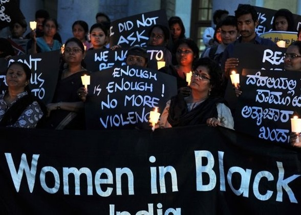 In this photograph taken on December 21, 2012, Indian activists stage a demonstration in Bangalore, as they condemn the gang rape in New Delhi.