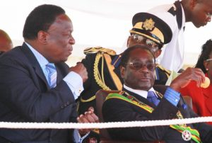 Emmerson Mnangagwa with President Mugabe