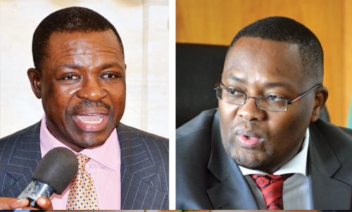 Wynter Kabimba (l), Emmanuel Mwamba