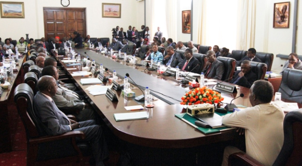 President Micheal Sata Cabinet and PF Central Committe meeting at State House