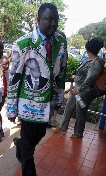 Kamba arriving at Lusaka Central Police Station