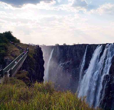 Knife bridge at Victoria Falls