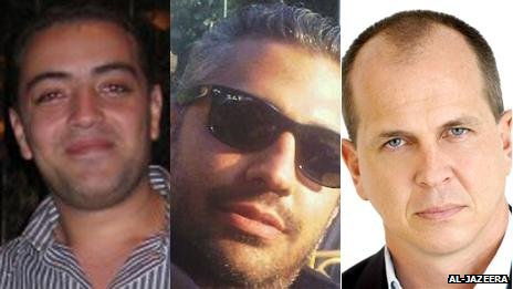Detained Al-Jazeera English journalists (left to right) Baher Mohamed, Mohamed Fahmy and Peter Greste