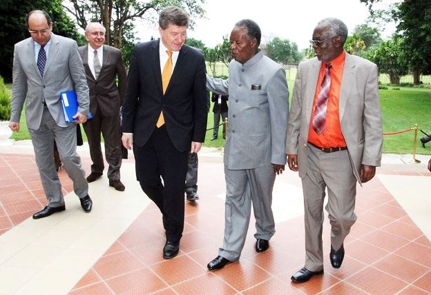 Sata with Guy Ryder, Director General Of International Labour Organization and Fackson Shamenda