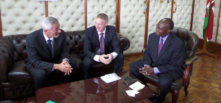 Novartis Executives meet with Cabinet Secretary for Health in Kenya Mr. James Macharia