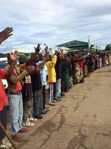 UPND supporters waiting for HH at Simon Mwansa Kapwepwe International Airport in Ndola