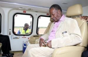 President Sata in a plane