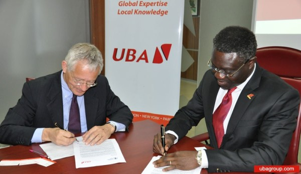 File: Phillips Oduoza, Group Managing Director/CEO, UBA at a past signing event