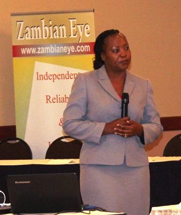 Representative from ZPPA Dorothy making a presentation