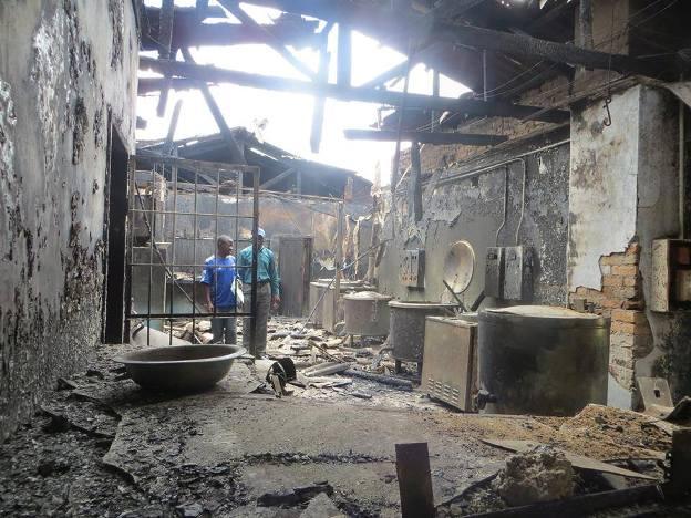 The burn Kitchen at Choma Secondary School