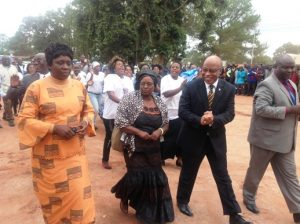 File: Mumba during the tour of North Western province
