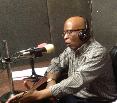 File: Dr Mumba speaking on Radio Mazabuka