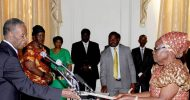 President Sata appears before Cameras