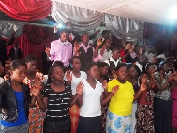 Church during a prayer session