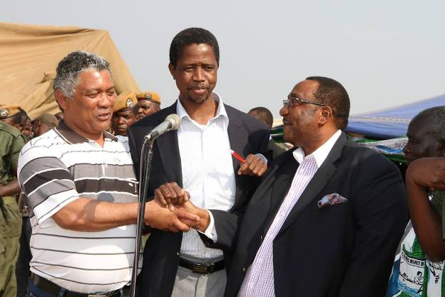 R to L: Lubinda, Lungu and Mwamba